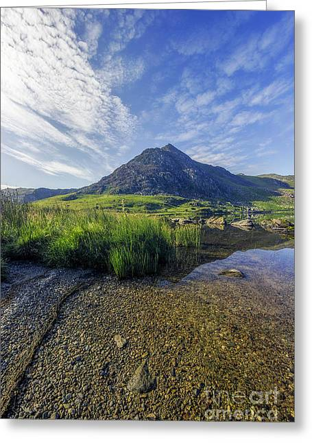 Greeting Card featuring the photograph Tryfan Mountain by Ian Mitchell
