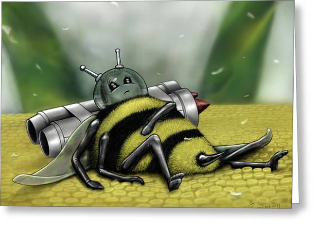 Children Story Book Digital Greeting Cards - Tub-Bee Greeting Card by Cliff Lambert