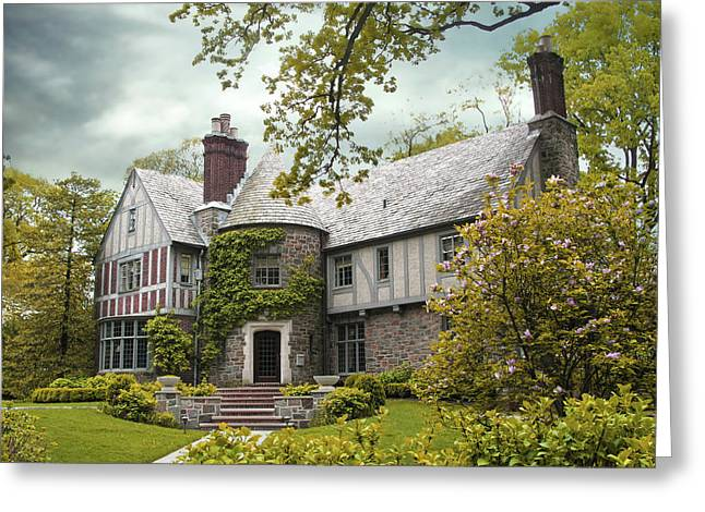 House Greeting Cards - Tudor Estate Greeting Card by Jessica Jenney