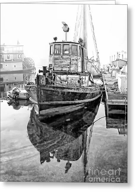 Tug Boat Greeting Card by Hartono Tai