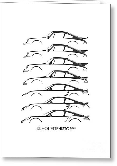 Turbo Sports Car Silhouettehistory Greeting Card