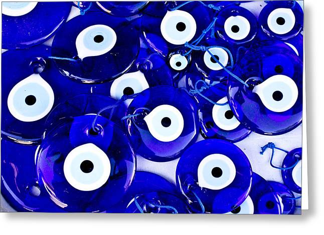 Turkish Eye Souvenirs Greeting Card by Tom Gowanlock
