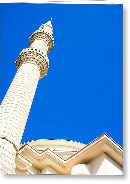 Turkish Mosque Greeting Card by Tom Gowanlock