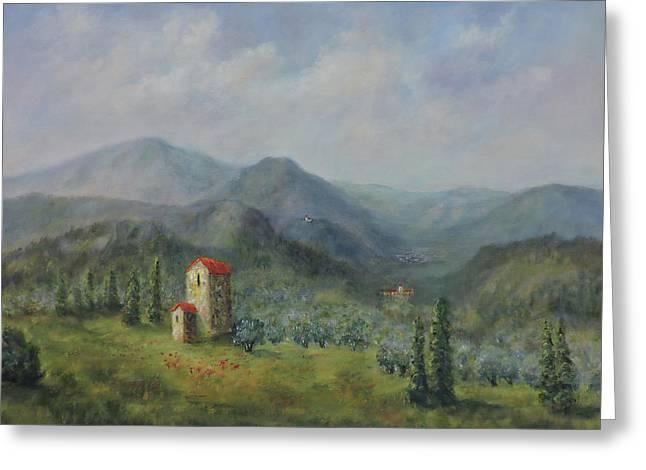 Tuscany Italy Olive Groves Greeting Card