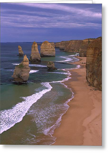 Mp Greeting Cards - Twelve Apostles Limestone Cliffs, Port Greeting Card by Konrad Wothe