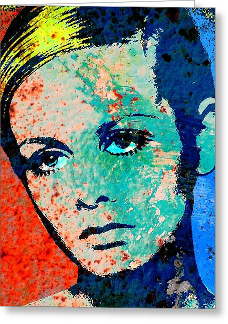 Twiggy-2 Greeting Card by Otis Porritt