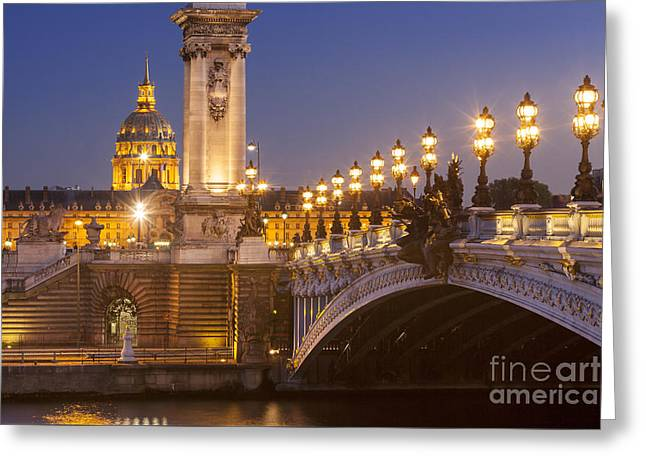 Twilight - Pont Alexandre IIi Greeting Card by Brian Jannsen