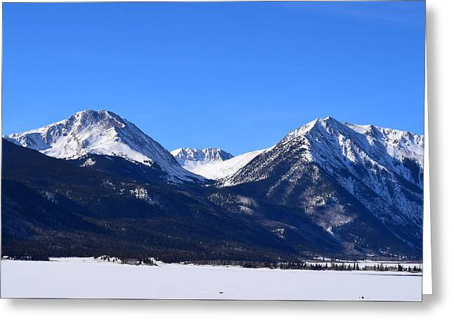 Greeting Card featuring the photograph Twin Lakes Mountains Leadville Co by Margarethe Binkley