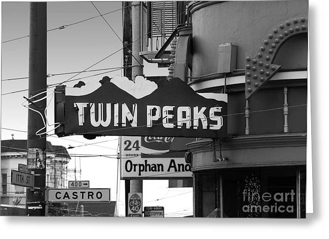 Eureka Valley Greeting Cards - Twin Peaks Bar in San Francisco Greeting Card by Wingsdomain Art and Photography