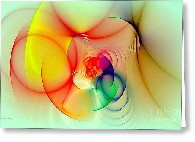 Twisted Rings Inverted Greeting Card