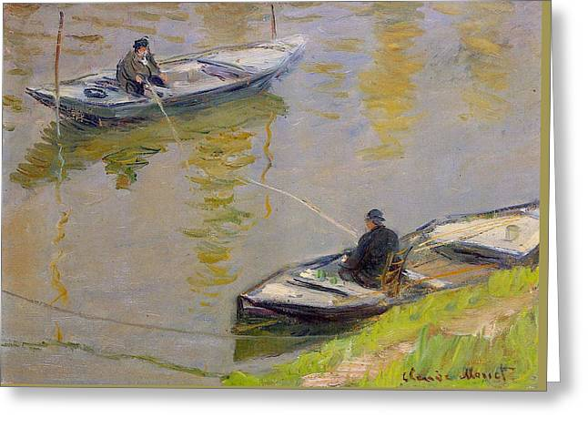 Two Anglers Greeting Card