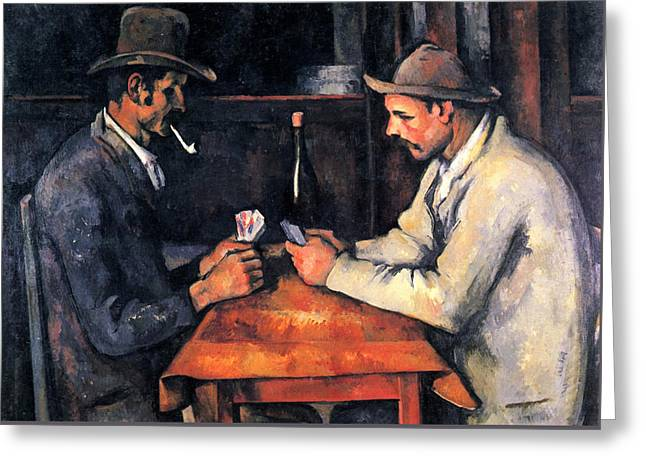 Two Card Players Greeting Card