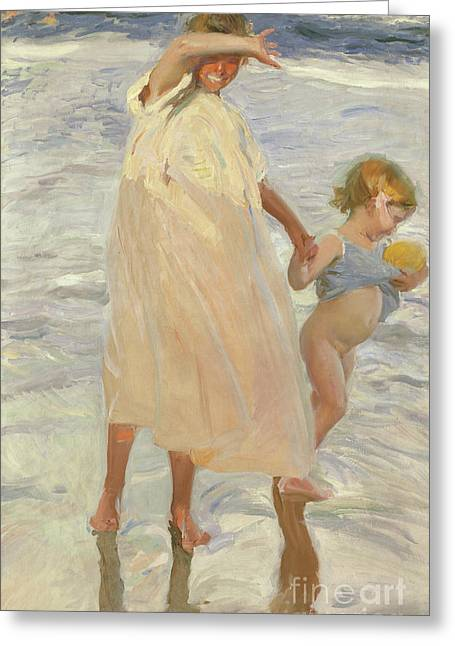 Two Sisters, Valencia Greeting Card