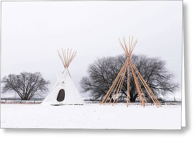 Two Tipis Greeting Card
