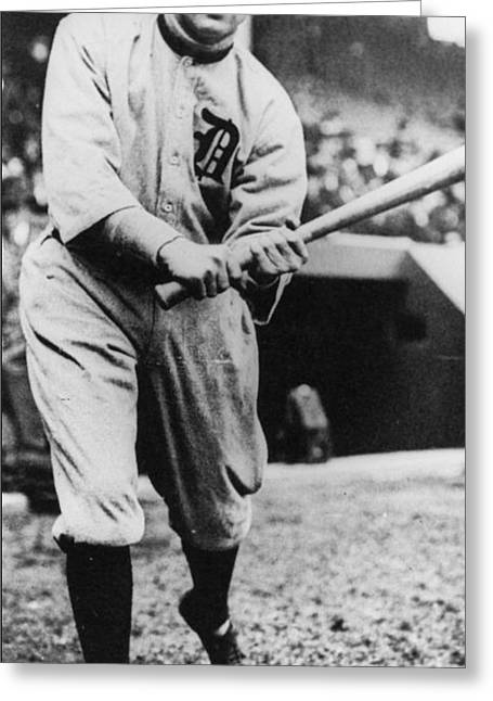 Ty Cobb Greeting Card