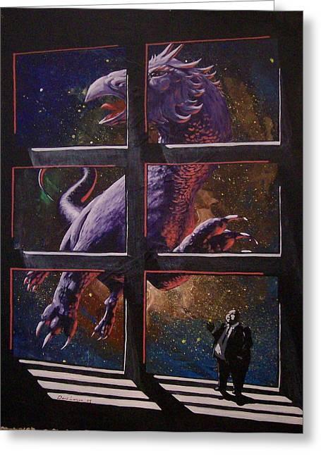 U-gi-o Greeting Card by David  Larcom