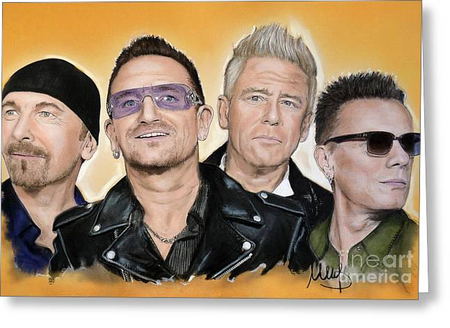 U2 Band Greeting Card