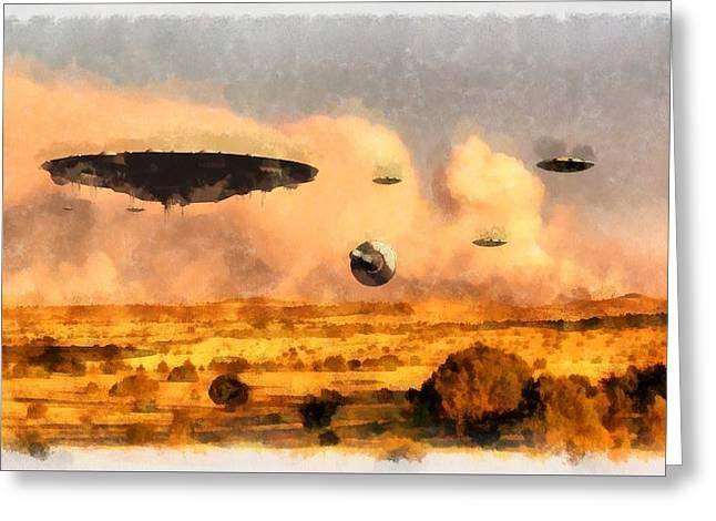 Ufo Armada Greeting Card