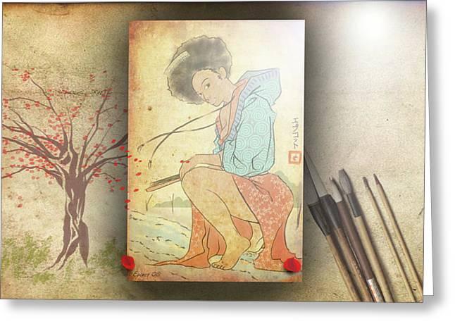 Ukyo-e Soul Greeting Card