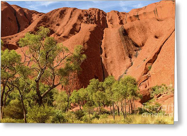 Greeting Card featuring the photograph Uluru 07 by Werner Padarin