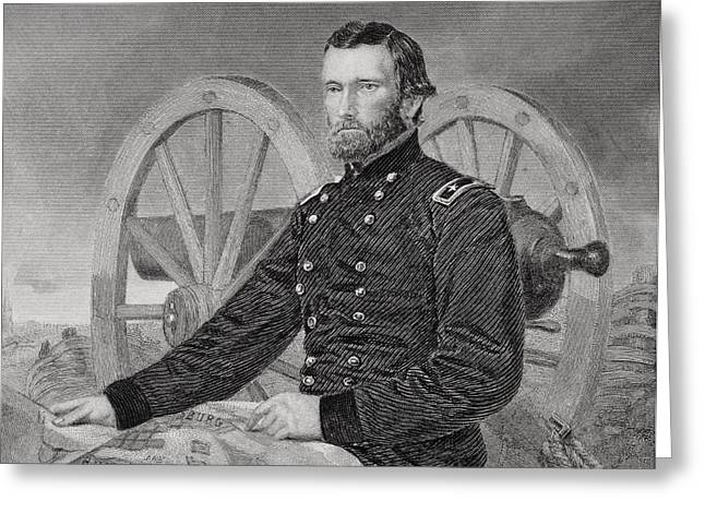 Ulysses S. Grant 1822-1885. Commmander Greeting Card by Vintage Design Pics