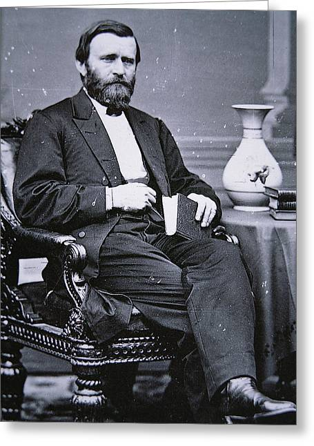 Ulysses Simpson Grant Greeting Card by Matthew Brady