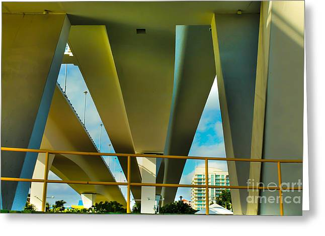 Under The Bridge Greeting Card by Claudia M Photography