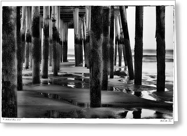 Under The Pier Greeting Card by Richard Bean