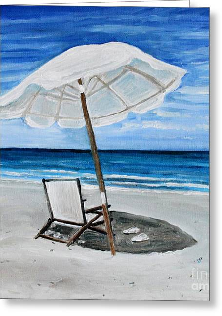 Under The Umbrella Greeting Card