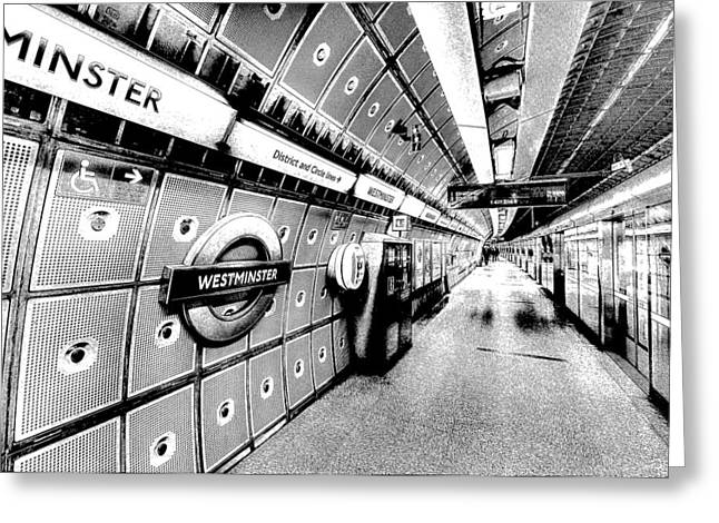 Underground London Art Greeting Card by David Pyatt