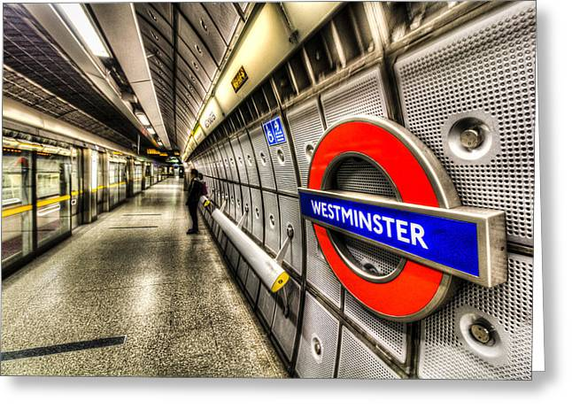 Underground London Greeting Card by David Pyatt