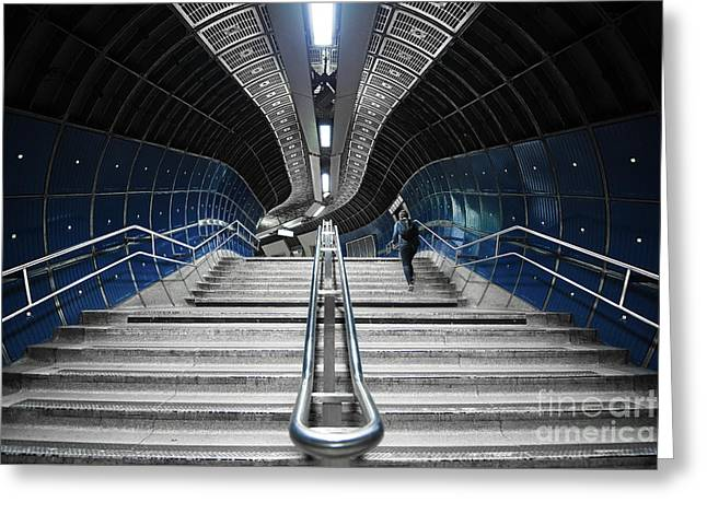 Underground Stair Greeting Card by Svetlana Sewell
