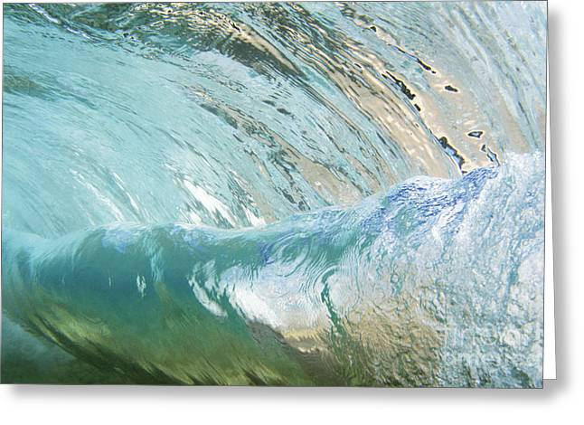 Underwater Wave Curl Greeting Card by Vince Cavataio - Printscapes