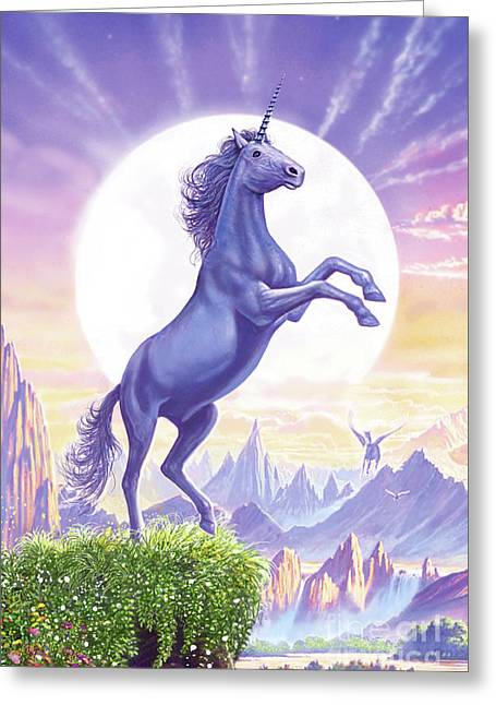 Unicorn Moon Greeting Card