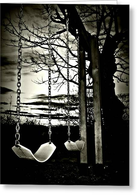 Swingset Greeting Cards - Untitled Greeting Card by Jessica Clairmont