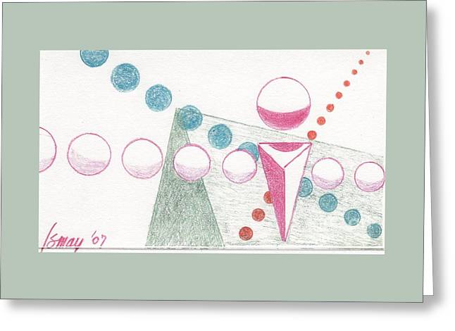 Greeting Card featuring the drawing Still Motion by Rod Ismay