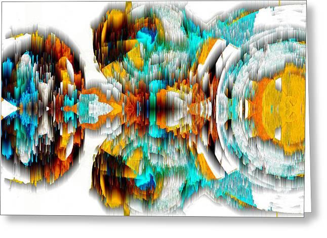 Greeting Card featuring the digital art Untitled Series 992.042212 -c by Kris Haas