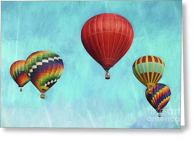 Greeting Card featuring the photograph Up Up And Away 2 by Benanne Stiens
