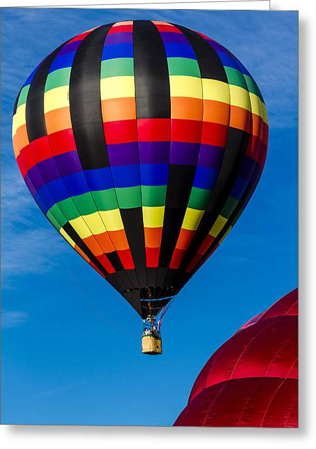Up Up And Away Greeting Card by Teri Virbickis
