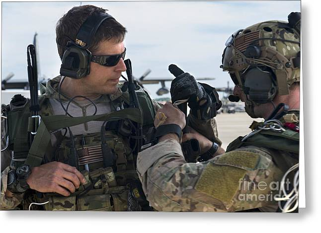 U.s. Air Force Combat Controllers Greeting Card by Stocktrek Images