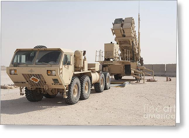 U.s. Army Soldiers Power-up A Mim-104 Greeting Card by Stocktrek Images