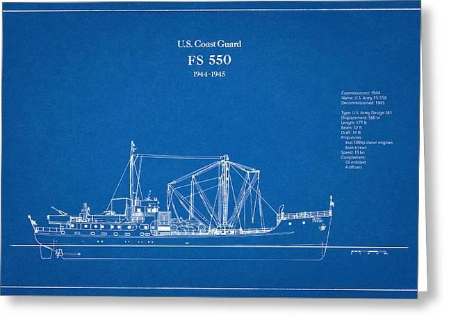 U.s. Coast Guard Fs 550 Greeting Card by Jose Elias - Sofia Pereira