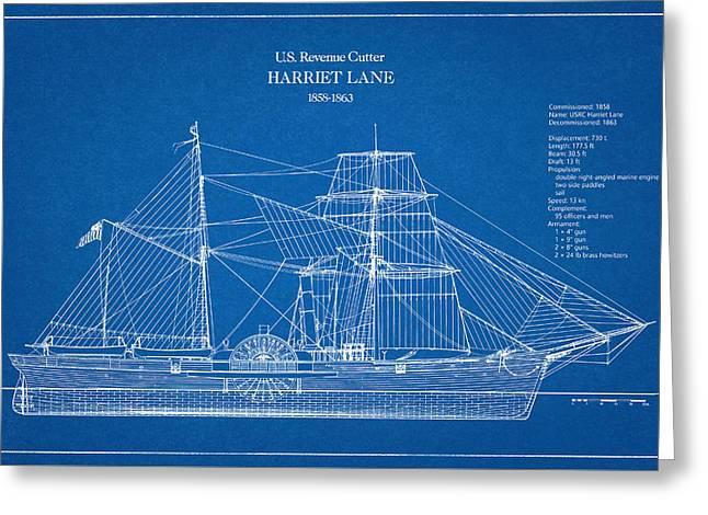 U.s. Coast Guard Revenue Cutter Harriet Lane Greeting Card by Jose Elias - Sofia Pereira