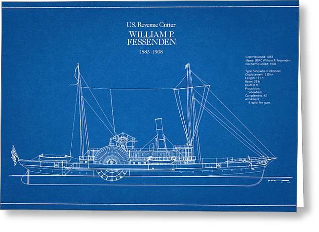 U.s. Coast Guard Revenue Cutter William P. Fessenden Greeting Card