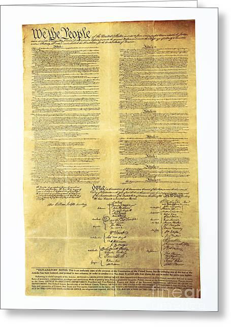 U.s Constitution Greeting Card
