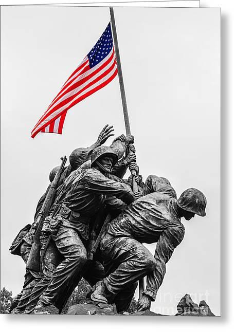 Us Marine Corps War Memorial Greeting Card