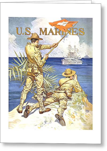 Semper Fidelis Greeting Cards - US Marines Greeting Card by War Is Hell Store