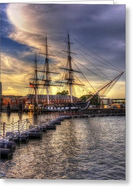 Uss Constitution - Boston Greeting Card by Joann Vitali
