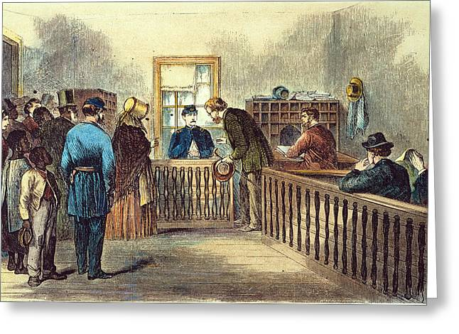 1866 Greeting Cards - Va: Freedmens Bureau 1866 Greeting Card by Granger
