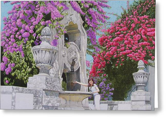 Vacation In Portugal Greeting Card by Constance Drescher